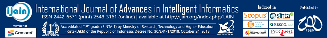 International Journal of Advances in Intelligent Informatics
